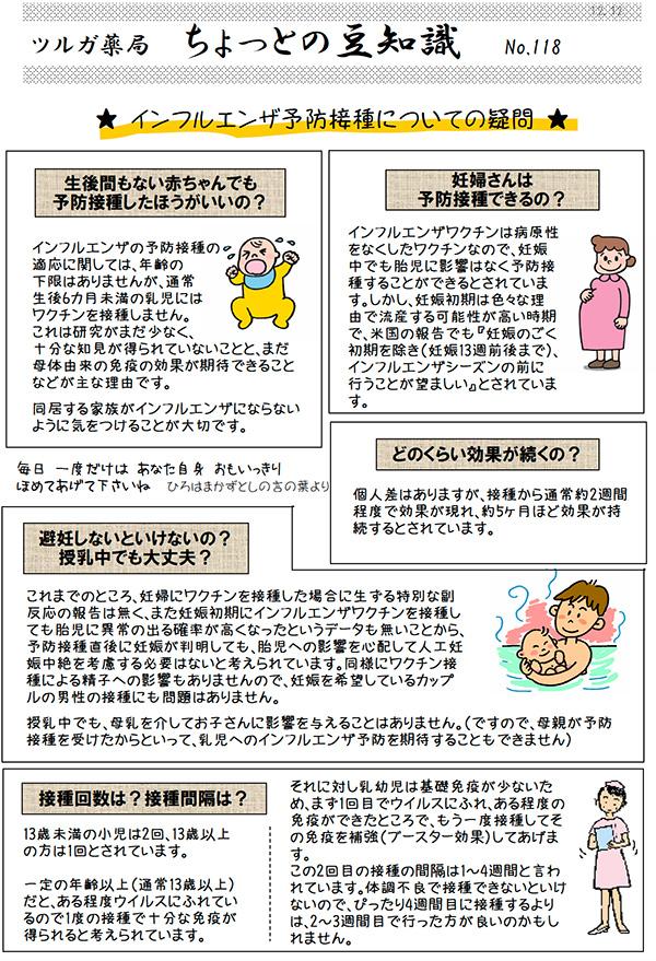 インフルエンザ予防接種豆知識