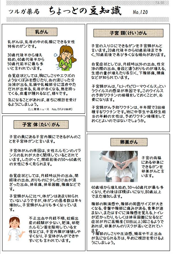 女性特有の病気 子宮と卵巣