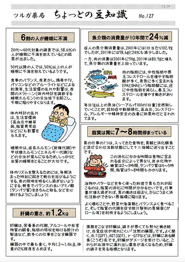 睡眠不満、魚介類消費減少